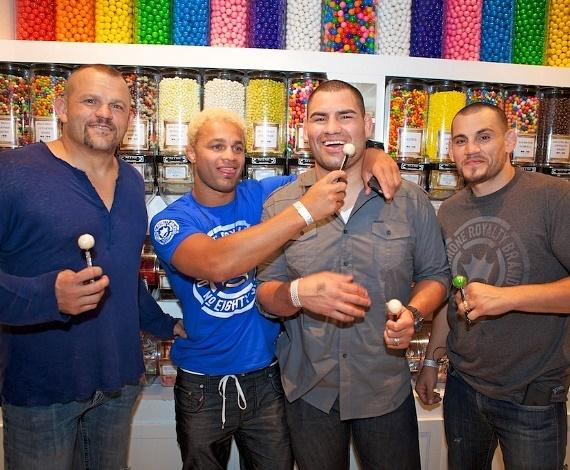 UFC Stars Chuck Liddell, Josh Koscheck, Cain Velasquez and Jon Fitch inside Sugar Factory at Paris Las Vegas