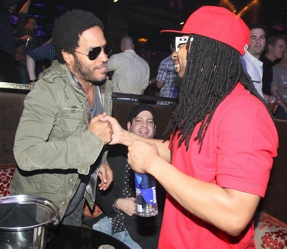 Lil Jon and Lenny Kravitz at Vanity
