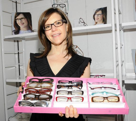 Lisa Loeb at Classique Eyewear booth at Vision Expo West in Las Vegas