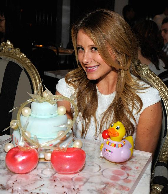 "Lauren ""Lo"" Bosworth with a custom-made cake at Sugar Factory American Brasserie at Paris Las Vegas"
