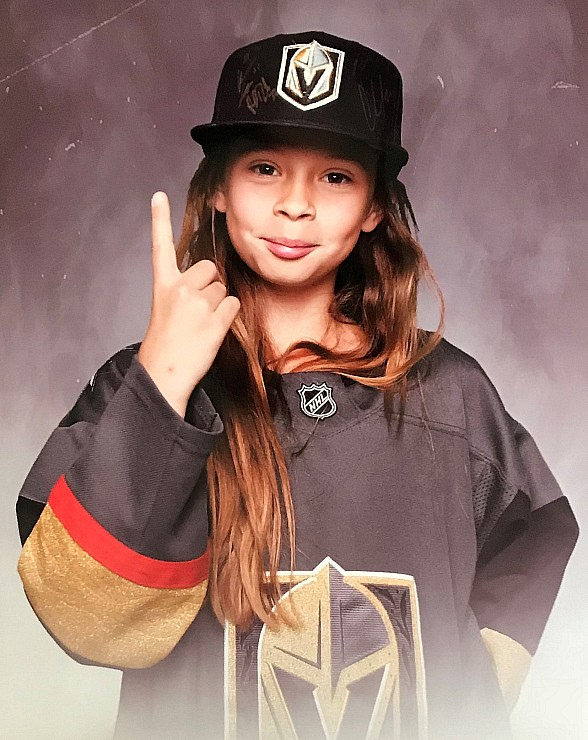 "Golden Knights 10-yr old Superfan, Logan ""The Girl with the Hat,"" Set to Ride the Zamboni at T-Mobile Arena for Game 5"
