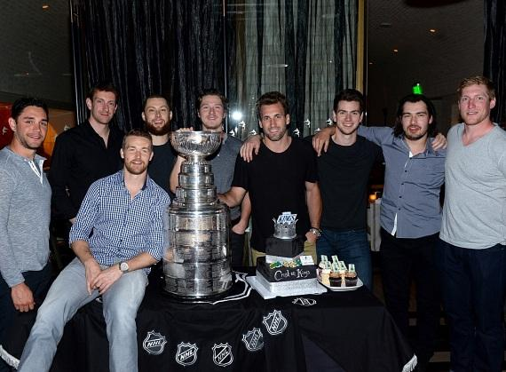 Los Angeles Kings with The Stanley Cup