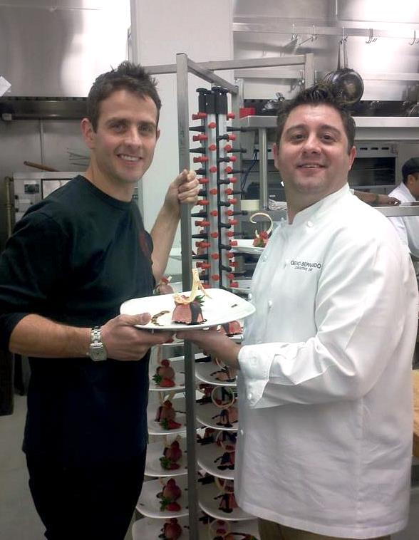 Joey McIntyre of New Kids on the Block visits Executive Chef Geno Bernardo