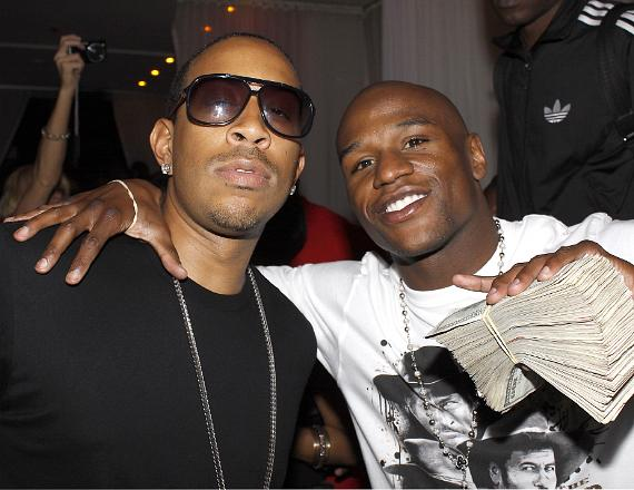 Ludacris and Floyd Mayweather Jr. at PURE Nightclub