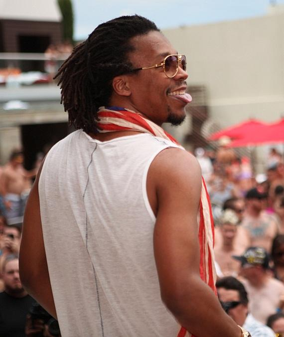 "Lupe Fiasco smiles as crowd chants his name at ""Ditch Fridays."""