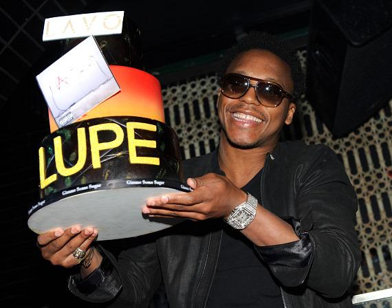 Lupe Fiasco with cake at LAVO