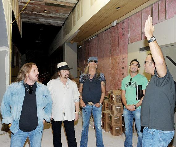 Lynyrd Skynyrd gets first official construction tour of Las Vegas restaurant, Lynyrd Skynyrd BBQ & Beer at Excalibur Hotel & Casino.