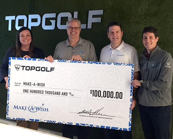 Following $100,000 Donation, Topgolf Light Show Intended to Raise Awareness and Funds for Make-A-Wish on April 29