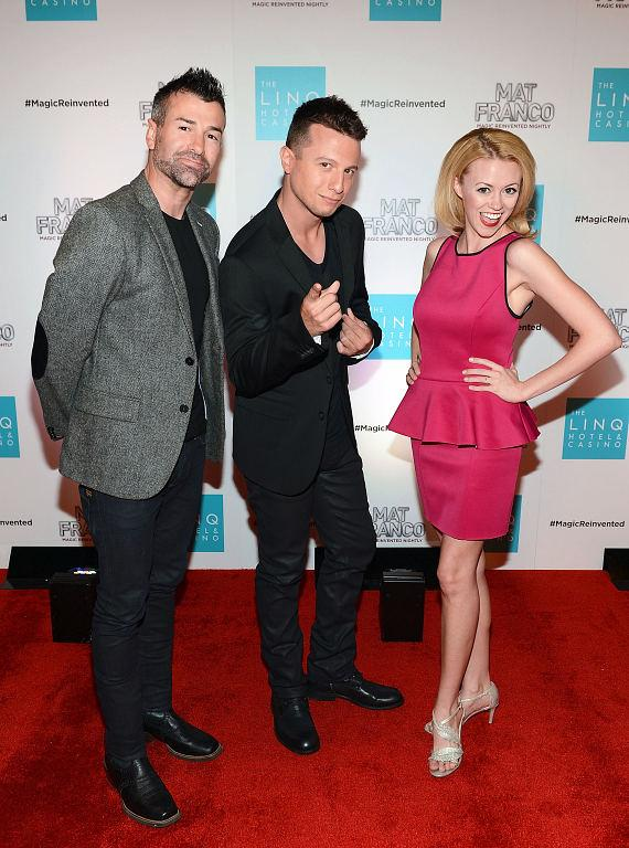 Mat Franco - Magic Reinvented Nightly Stars Ted Russell, Magician Mat Franco and Caitlin Nash