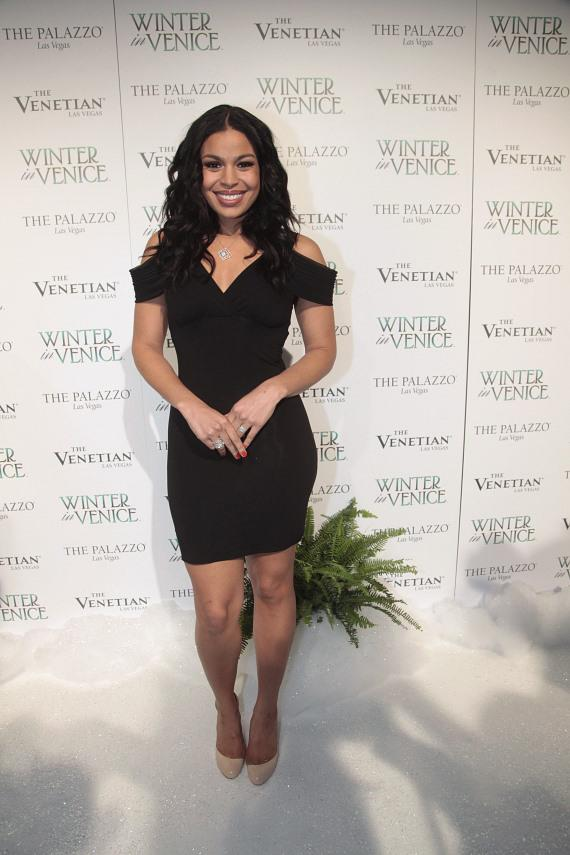 """The upcoming """"Sparkle"""" actress graces the Winter in Venice white carpet"""