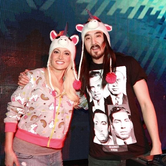 Holly Madison and Steve Aoki
