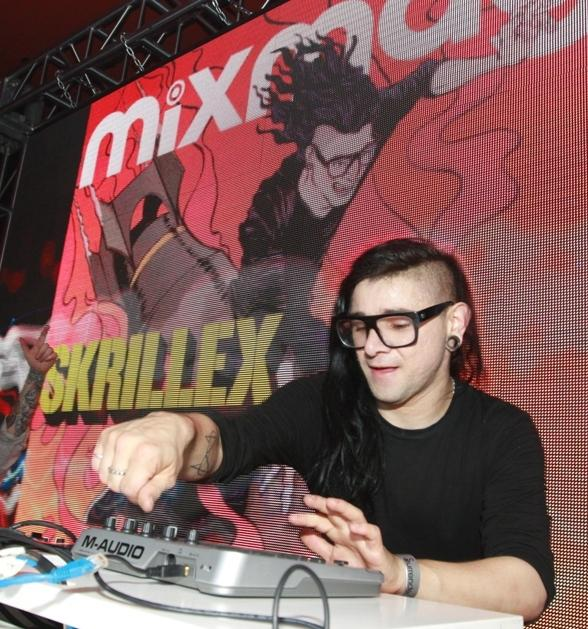 Skrillex performs at Surrender Nightclub