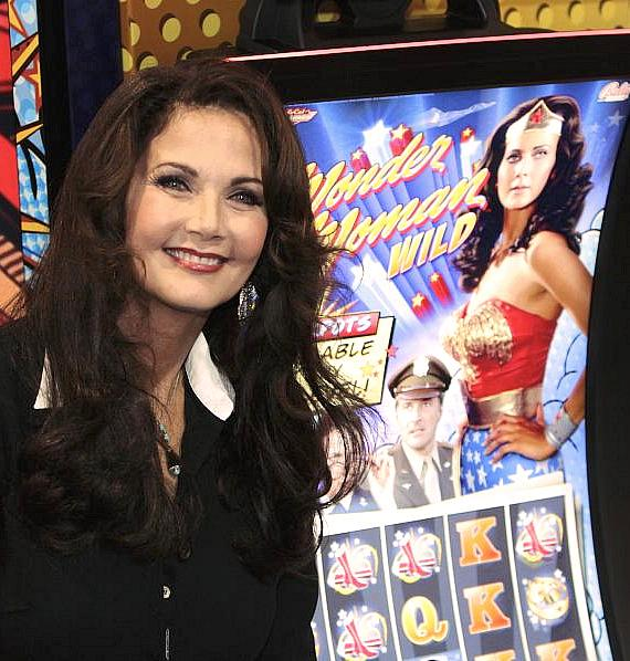 Lynda Carter unveiled Bally Technologies' Wonder Woman machine