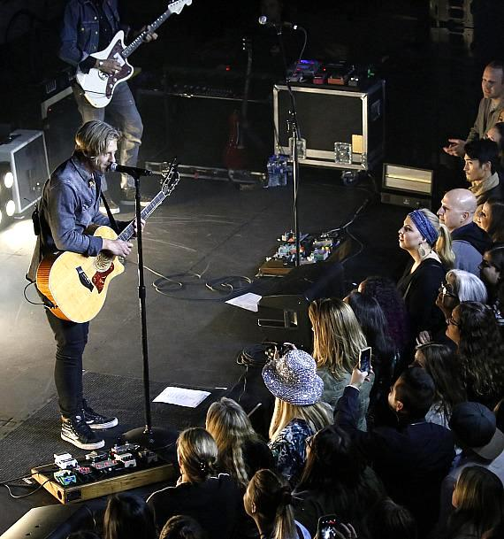 Switchfoot performs to a packed house in The Toyota Yard at Topgolf