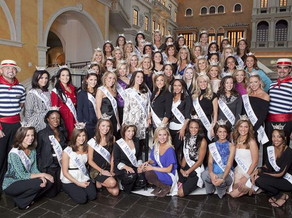 Miss America 2010 contestants at The Venetian