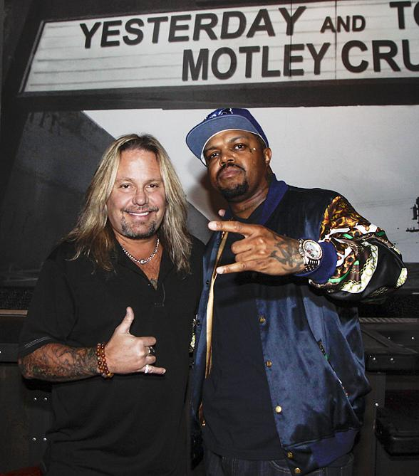DJ Paul from Three 6 Mafia Visits Vince Neil at Tatuado Eat-Drink-PARTY!