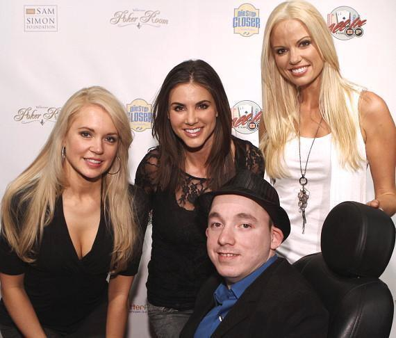 Playboy Playmates Stacy Fuson, Alison Waite and Lauren Anderson pose with One Step Closer Founder, Jacob Zalewski