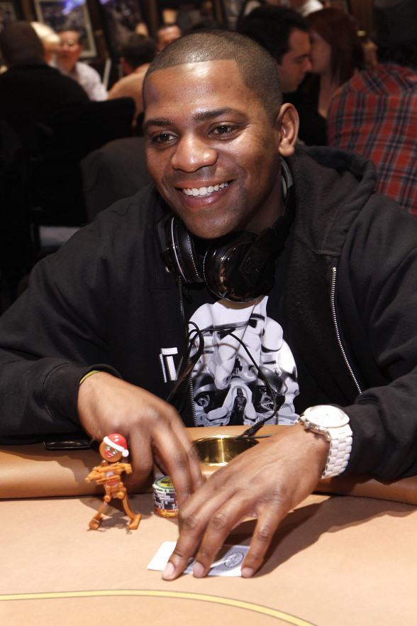 "Actor Mekhi Phifer getting ready to play during the ""All In For CP"" Tournament at The Venetian"