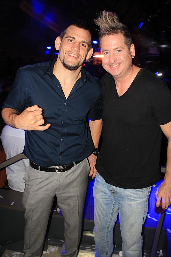MMA Fighter Jon Fitch with Friend at Chateau Nightclub