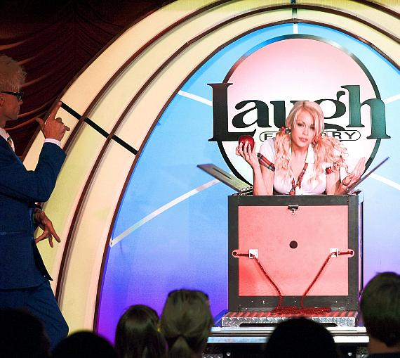 Murray SawChuck performs at The Laugh Factory in the Tropicana Hotel