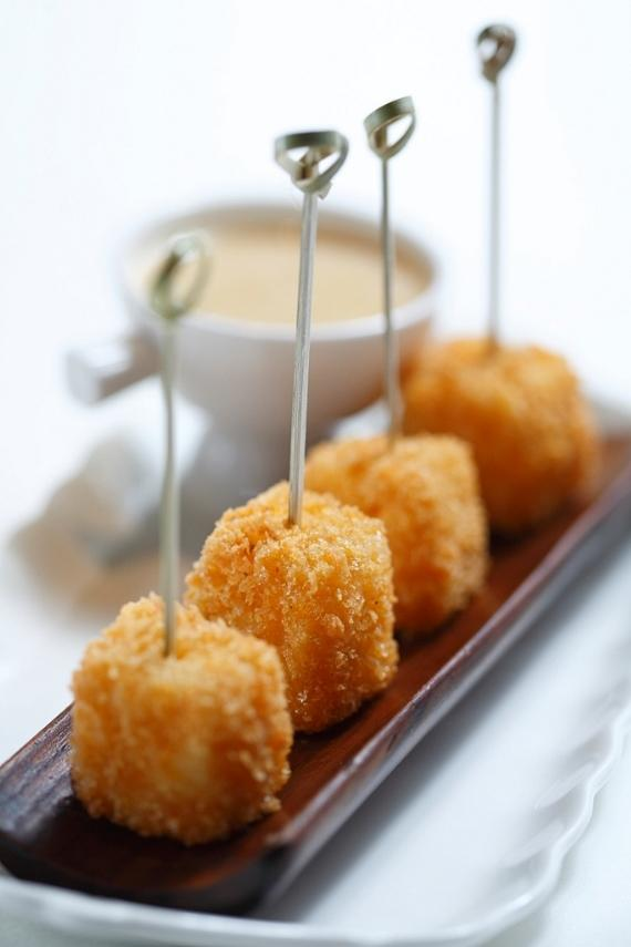 Mac N' Cheese Bites with a truffle dipping sauce