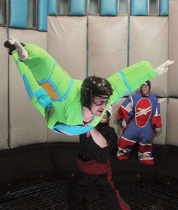Macaulay Culkin Earns His Wings at Vegas Indoor Skydiving