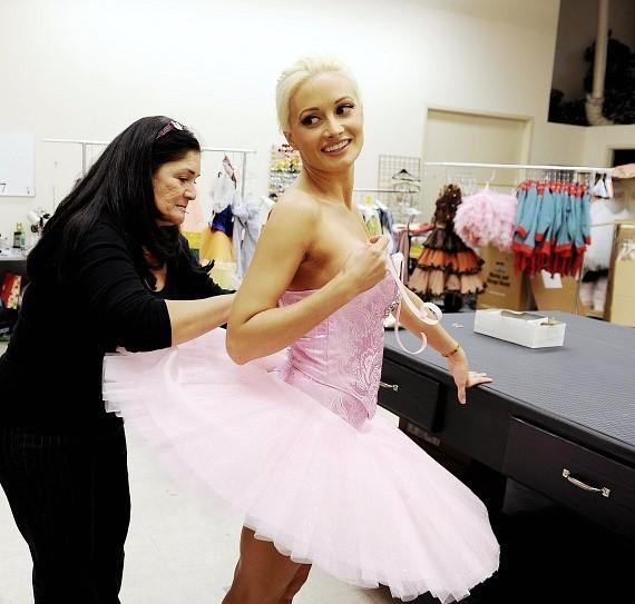 Holly Madison with Wardrobe Supervisor JoJo Findley