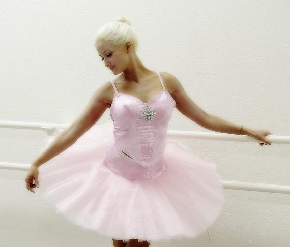 Holly Madison at Nevada Ballet Theatre rehearsal