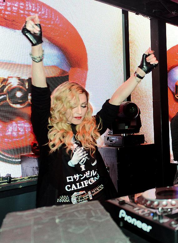 Madonna in DJ Booth at Marquee