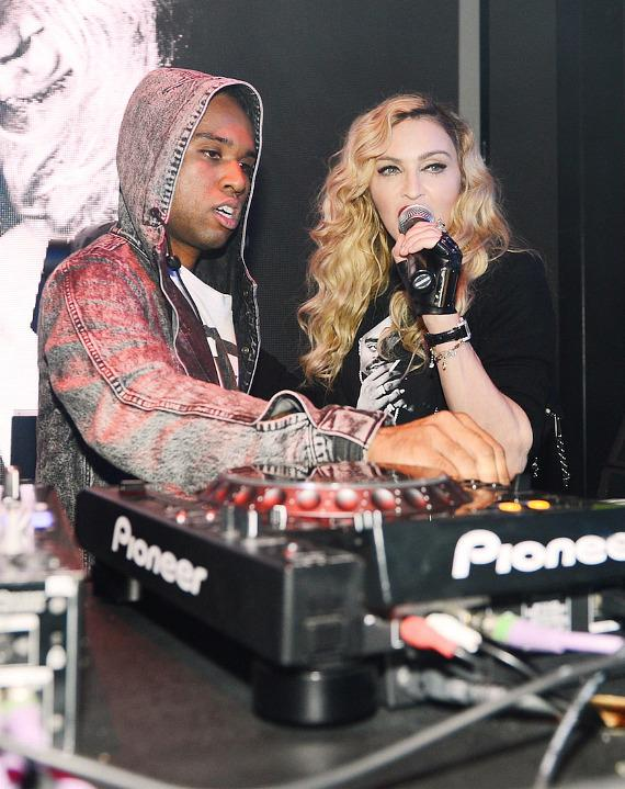 Madonna with DJ Lunice at Marquee