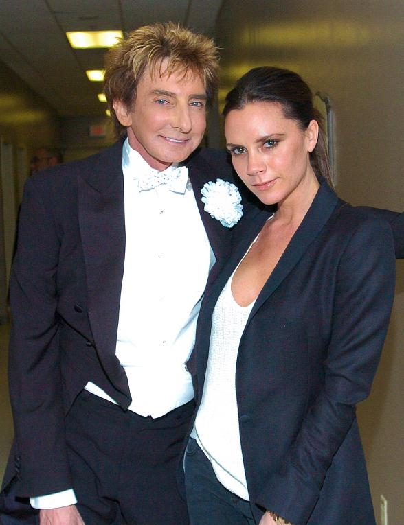 Victoria Beckham with Barry Manilow at Paris Las Vegas