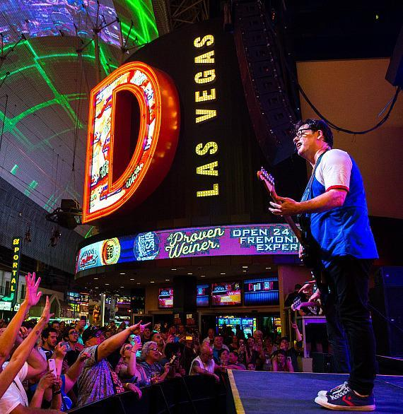 Marcy Playground performs during Downtown Rocks on Fremont Street Experience