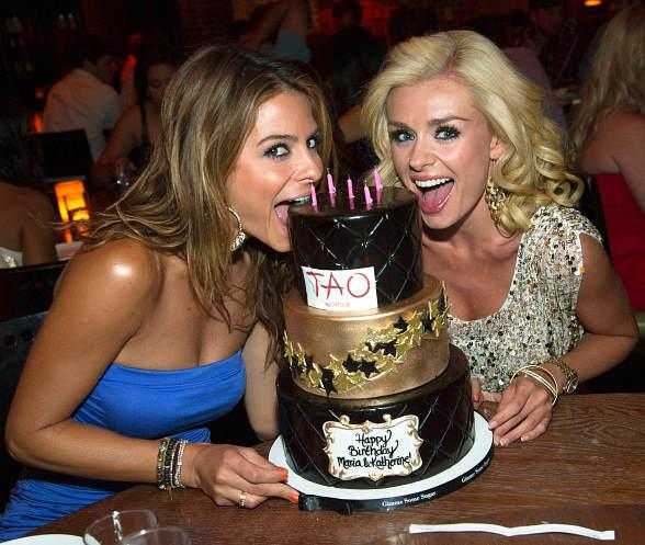 Dancing With The Stars Contestants Maria Menounos and Katherine Jenkins Party Celebrate Birthdays at TAO
