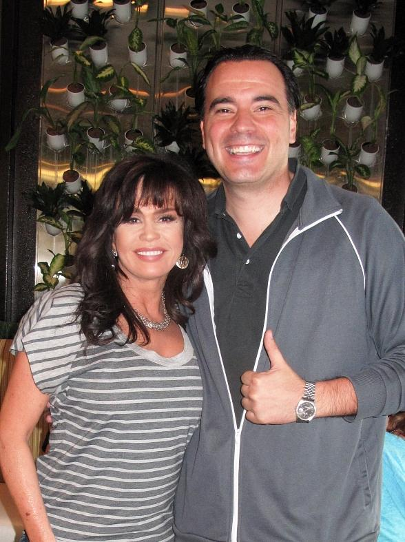 Marie Osmond with Jeff Kovatch of Greens and Proteins