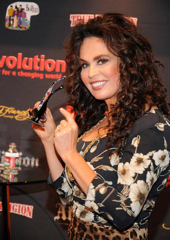Marie Osmond at the Revolution Eyewear booth at Vision Expo West