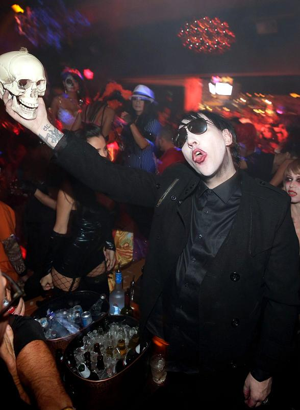Marilyn Manson Hosts Horrifying Halloween Bash at Hyde Bellagio, Las Vegas