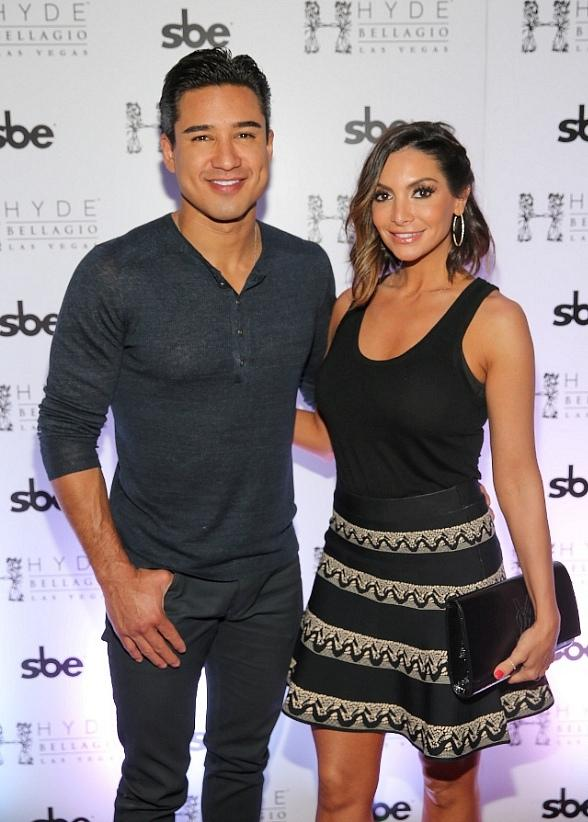 Mario Lopez & Courtney Mazza Lopez Celebrate Cinco de Mayo at Hyde Bellagio in Las Vegas