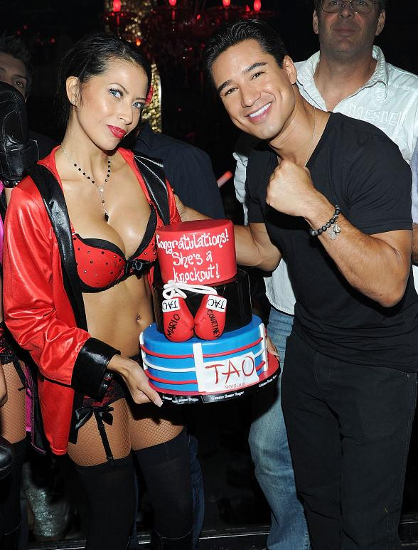 Mario Lopez Celebrates Bachelor Party at TAO in Las Vegas