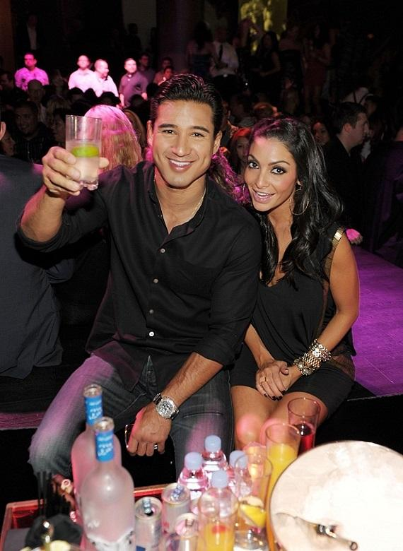 Mario Lopez and Courtney Mazza at their VIP table inside Gallery nightclub