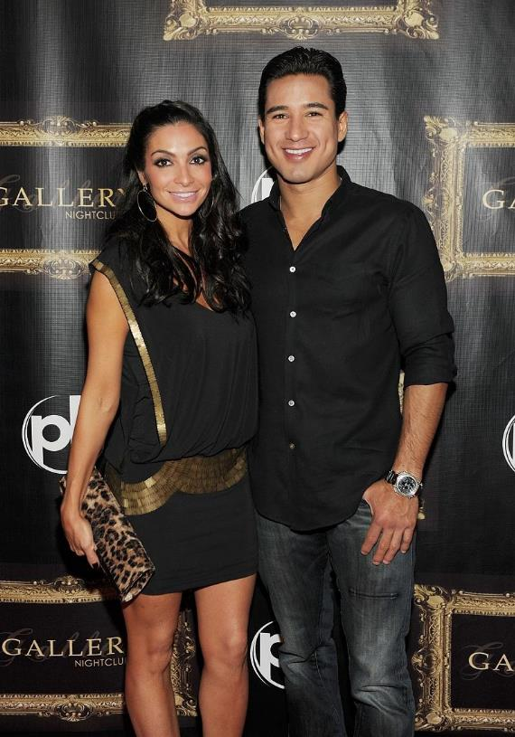 Mario Lopez and Courtney Mazza on the red carpet at Gallery nightclub