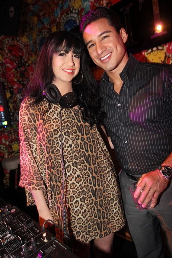 Mario Lopez and DJ Jessica Who at Vanity