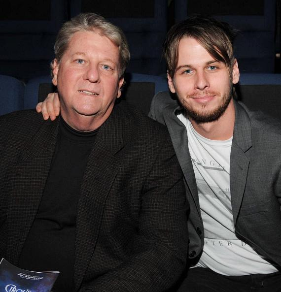 Mark Foster (r) with his father at The Beatles LOVE