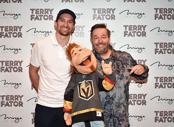 Vegas Golden Knights Player Mark Stone Visits Terry Fator at The Mirage in Las Vegas
