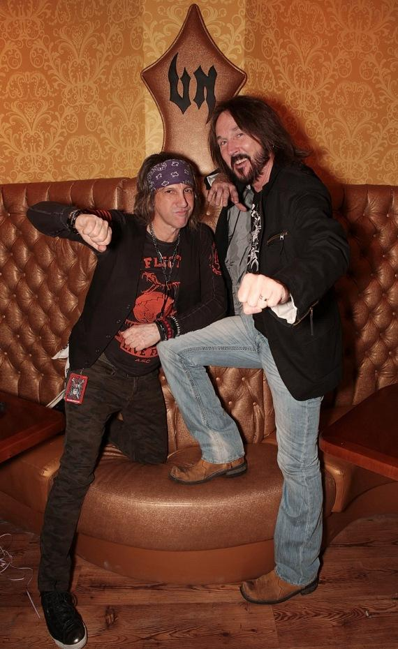 Mark Weiss and Ron Keel at Vince Neil's Tatuado Eat-Drink-Party! at Circus Circus