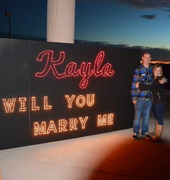 Marriage Proposal at Glittering Lights on Christmas Eve