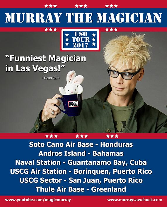 MURRAY The Magician leaves Las Vegas for 3 week USO Tour