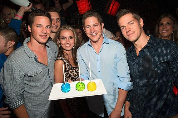Matt Lanter, Angela Stacy, Ryan Basford and Jason Kennedy at LAVO