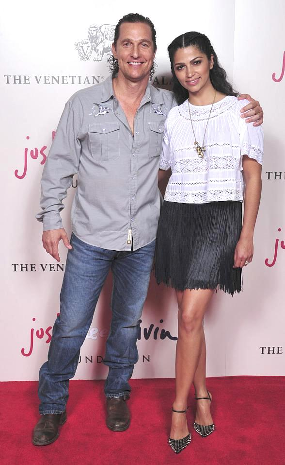 Matthew McConaughey hosts Charity Blackjack Tournament at The Venetian Las Vegas