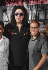 Vegas Kids from Various Charities Meet Gene Simmons of KISS in Las Vegas
