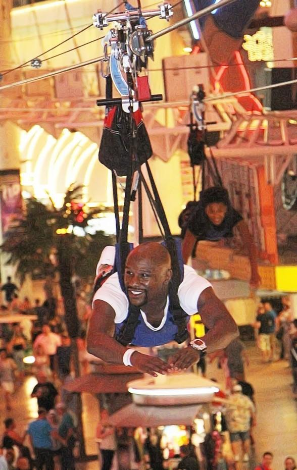 Floyd Mayweather Jr., Boxing Superstar and Five-division World Champion, Flies on SlotZilla's Zoomline